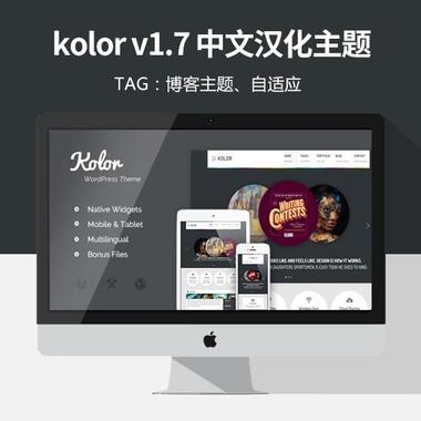kolor v1.7中文汉化WordPress主题