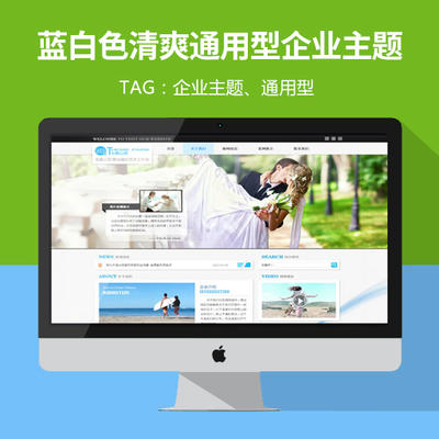 蓝白色清爽企业通用wordpress主题
