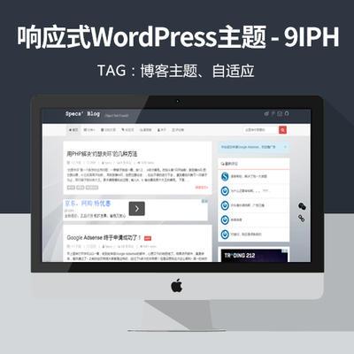 基于Bootstrap的响应式WordPress主题 9IPHP 免费下载