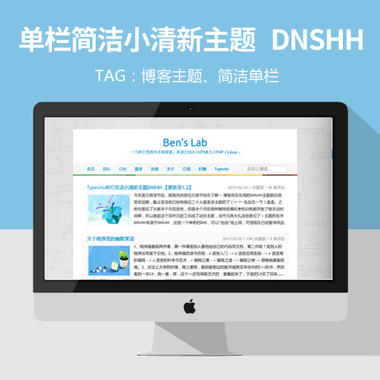 wordpress单栏简洁小清新主题DNSHH