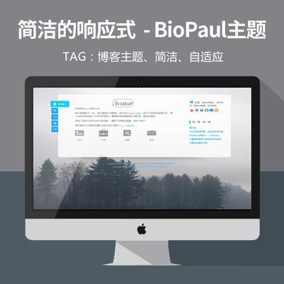 WordPress博客主题:简洁的响应式BioPaul主题分享