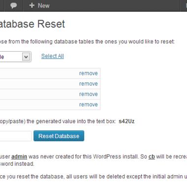 如何重置WordPress数据库,重置wordpress网站插件