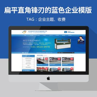【收费】wordpress企业主题:扁平直角锋刃的蓝色企业模版FMT发布