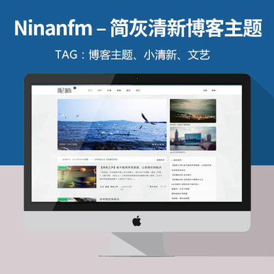 wordpress博客主题,Ninanfm – 简灰清新WordPress博客主题