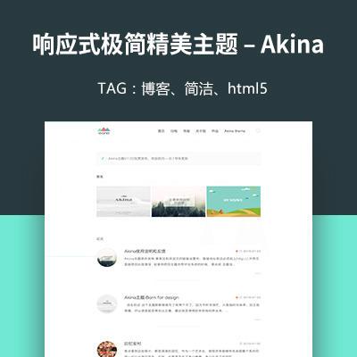 Akina – 响应式极简精美 WordPress 博客主题