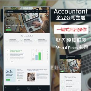 Accountant财务企业公司wordpress模板,公司网站模板,html模板—多功能主题,强大后台傻瓜式编辑wordpress主题
