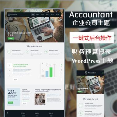 Accountant-财务企业公司wordpress模板,公司网站模板,html模板—多功能主题,强大后台傻瓜式编辑wordpress主题