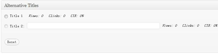 WordPress如何进行多标题测试