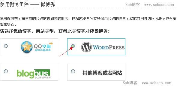 在WordPress博客上加上腾讯微博秀组件的方法