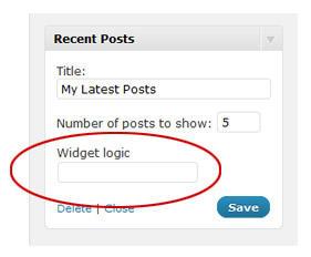 Widget logic –让你的侧边栏与众不同