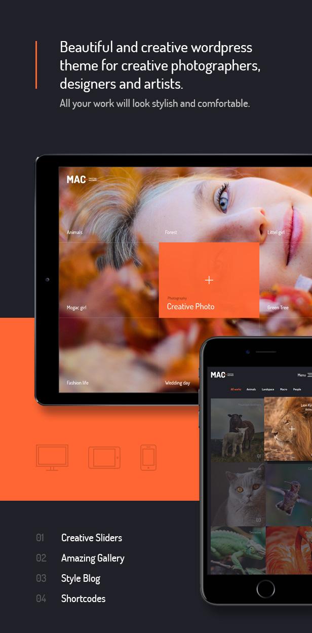 Mac - 全屏摄影艺术WordPress汉化主题 - v1.1
