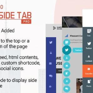 Easy Side Tab Pro – 响应式浮动标签插件WordPress插件 – v2.0–WordPress插件