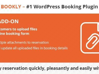 Bookly Files (Add-on) 预定表单附件上传插件 – v1.7–WordPress插件