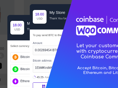 Coinbase Commerce for WooCommerce 比特币加密货币支付插件 – v1.1.1–WordPress插件