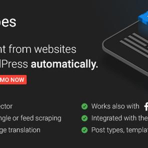 Scrapes – 内容自动复制WordPress插件 – v2.0–WordPress插件